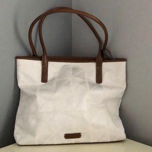NINE by Nine West white and brown shoulder bag